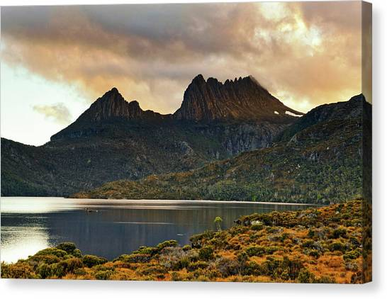 St Clair Canvas Print - Cradle Mountain From Dove Lake, Cradle by Johnathan Ampersand Esper
