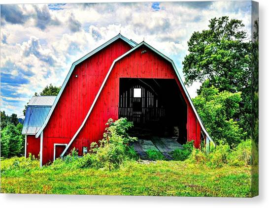 Craftsbury Barn Canvas Print