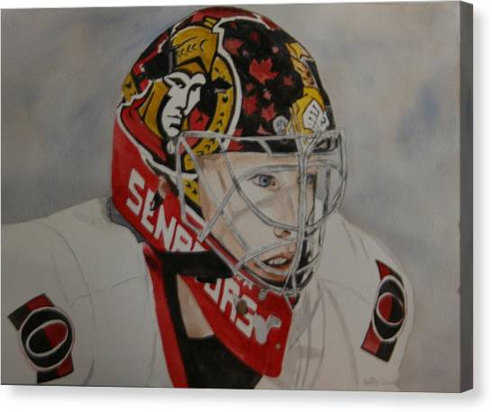 Ottawa Senators Canvas Print - Craig Anderson by Betty-Anne McDonald