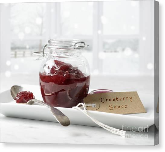 Cranberry Sauce Canvas Print - Cranberry Sauce by Amanda Elwell