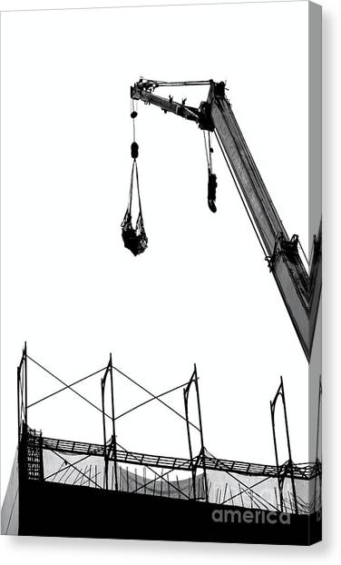 Crane And Construction Site Canvas Print
