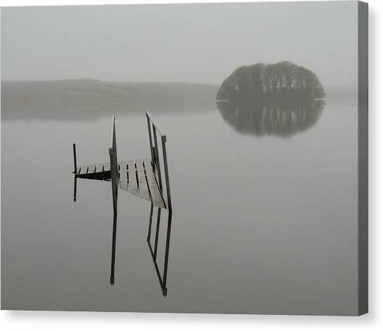 Crannog At Lake Knockalough Canvas Print