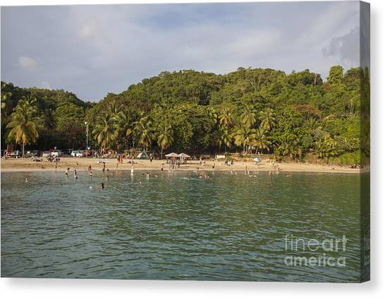 Canvas Print featuring the photograph Crash Boat Beach In Puerto Rico by Bryan Mullennix