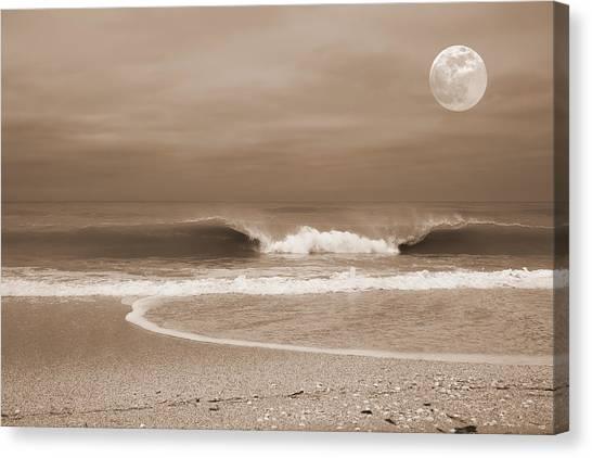 Crashing Moon Canvas Print