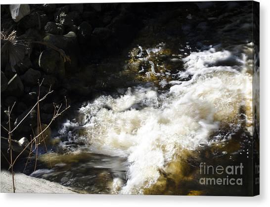 Crashing Water Canvas Print