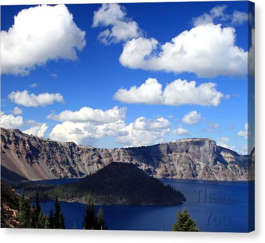 Ashes Canvas Print - Crater Lake Oregon   And A Reminder To Utter The Words Thank You. by Raenell Ochampaugh