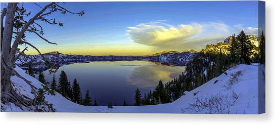 Crater Lake Panorama Canvas Print