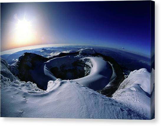 Cotopaxi Canvas Print - Crater Of Cotopaxi Volcano by Per-Andre Hoffmann