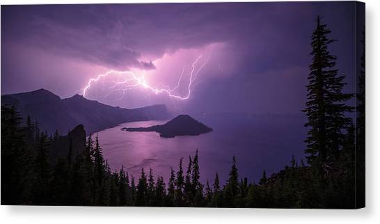 Lightning Canvas Print - Crater Storm by Chad Dutson