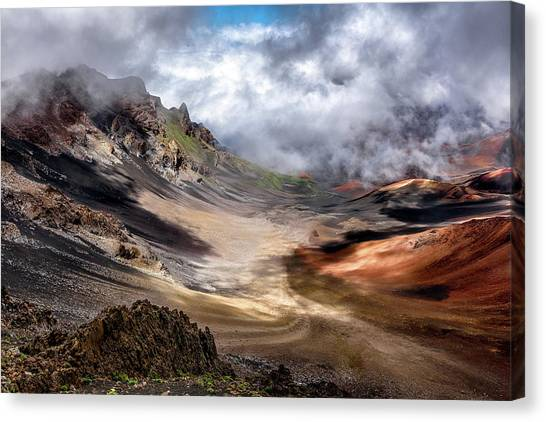 Ashes Canvas Print - Craters Edge by Navin Bopitiya