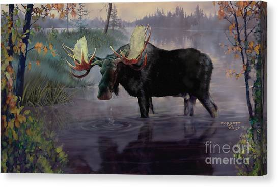 Craven Moose Canvas Print