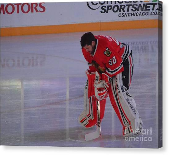 Crawford During The Anthem Canvas Print
