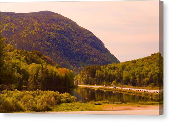 Crawford Notch Homage To Thomas Cole Canvas Print