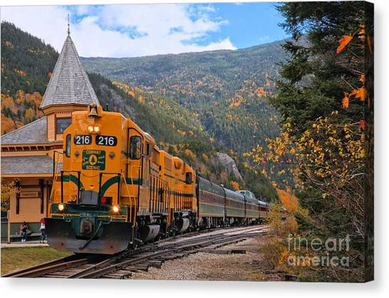Crawford Notch Train Depot Canvas Print