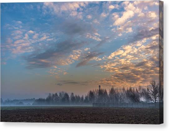 Crawling Mist Canvas Print