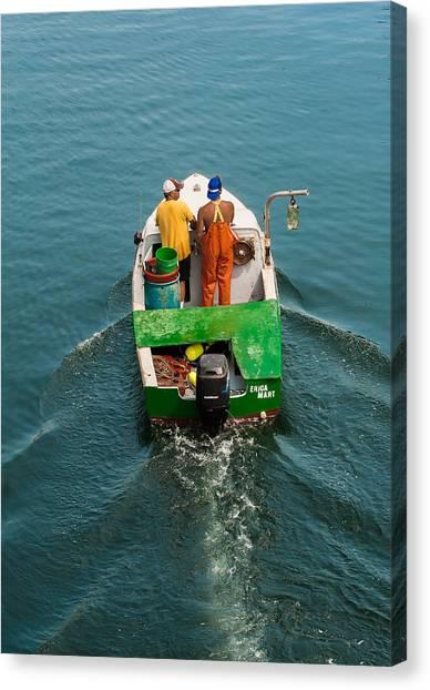 Crayola Lobsterboat Canvas Print