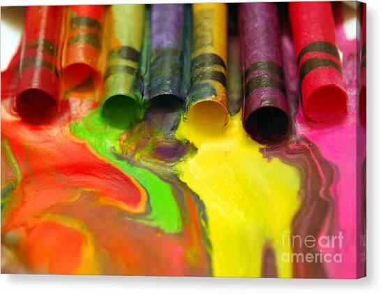 Crayon Cooperation Canvas Print