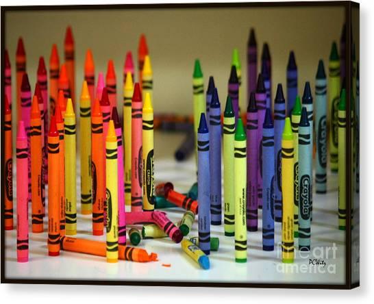 Crayon Wars Canvas Print