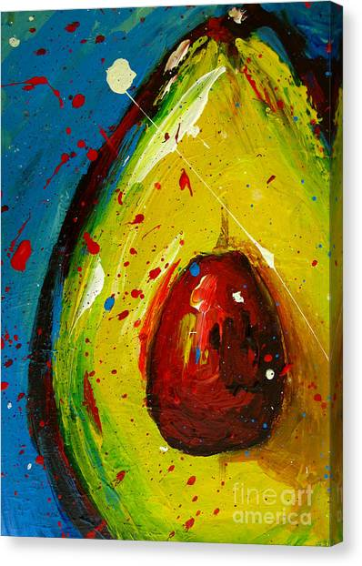 Crazy Avocado 4 - Modern Art Canvas Print