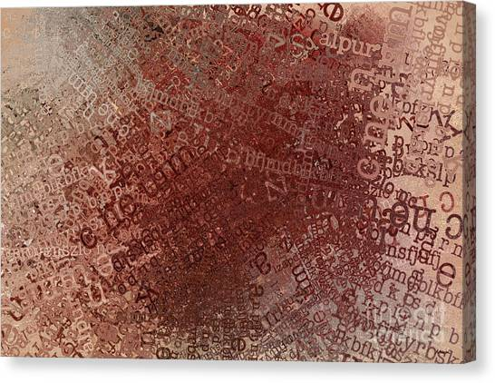 Crazy Grunge Type Abstract Canvas Print