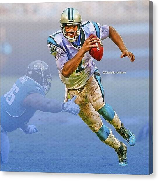 Panthers Canvas Print - Crazy New Edit I Just Made I Love It ! by Futuristic Designs
