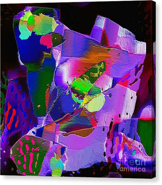 Canvas Print featuring the digital art Crazy Quilt by Dee Flouton