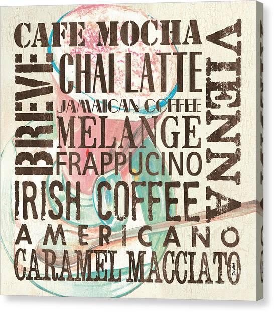 Coffee Shops Canvas Print - Cream Coffee Of The Day 1 by Debbie DeWitt