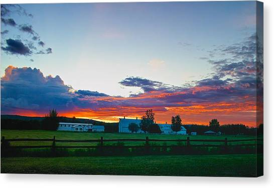 Creamer's Diary Sunrise Fairbanks Alaska Canvas Print