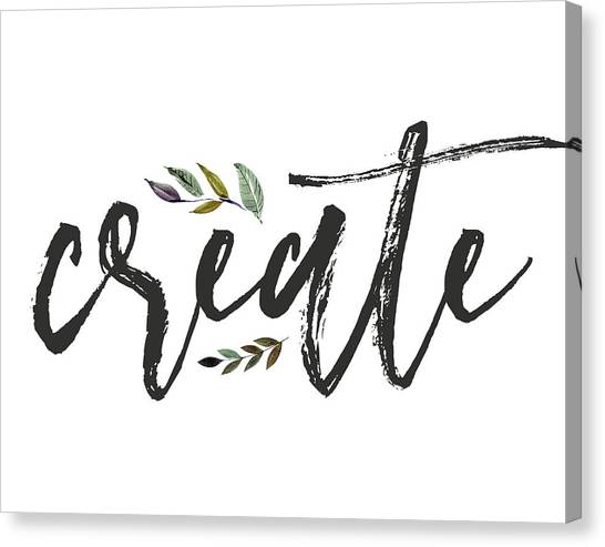 Office Canvas Print - Create Floral by Tara Moss