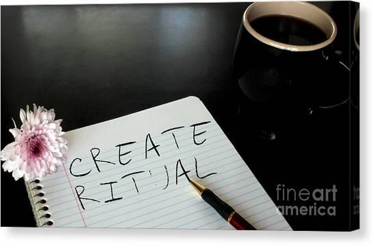 Create Ritual Canvas Print