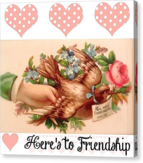 Dove Canvas Print - Created This #friendship Image From A by Teresa Mucha