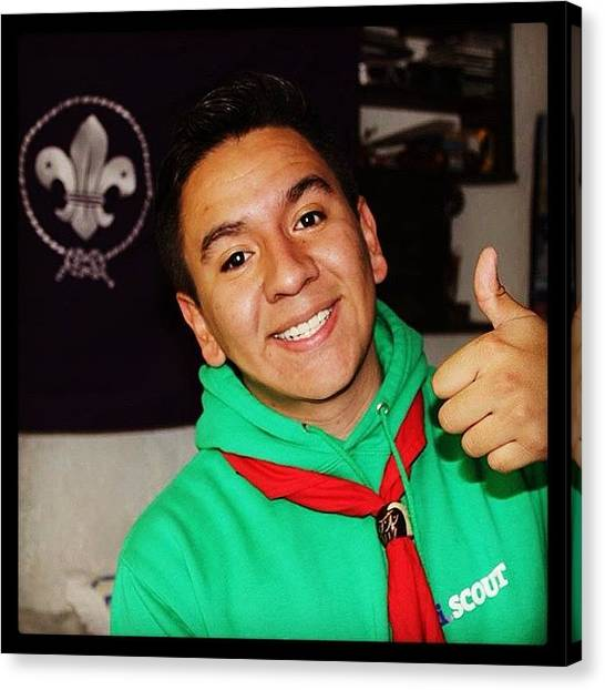 Scouting Canvas Print - Creating A Better World. 😃 #scout by Erick Enrique C