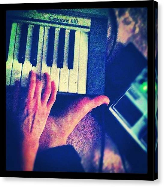 Keyboards Canvas Print - Musical Mornings by Marcela Martinez