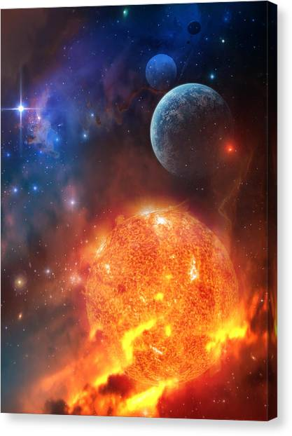 Planet Canvas Print - Creation by Philip Straub