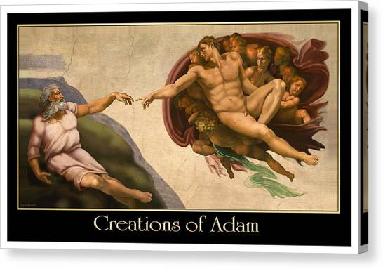 Creations Of Adam Canvas Print