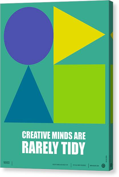 Quote Canvas Print - Creative Minds Poster by Naxart Studio