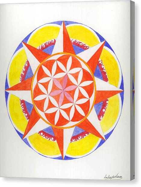 Creativity Mandala Canvas Print by Silvia Justo Fernandez