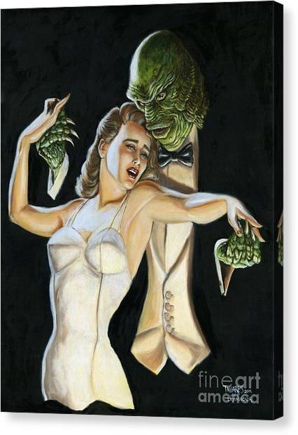 Creature From The Black Tie Lagoon Canvas Print
