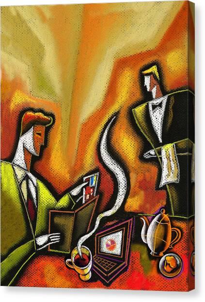 Anticipation Canvas Print - Credit Card by Leon Zernitsky