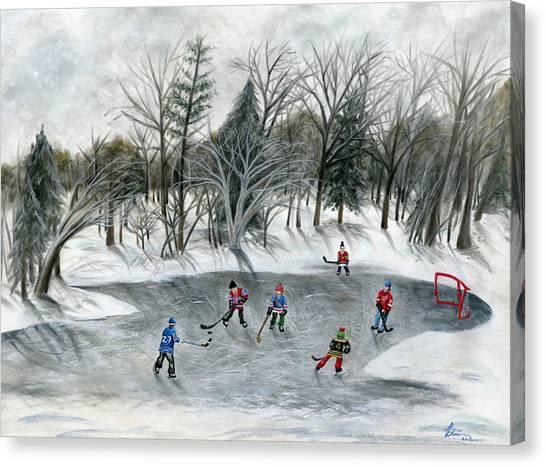Gordie Howe Canvas Print - Credit River Dreams by Brianna Mulvale