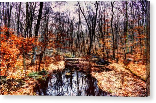 Creek At Pyramid Mountain Canvas Print