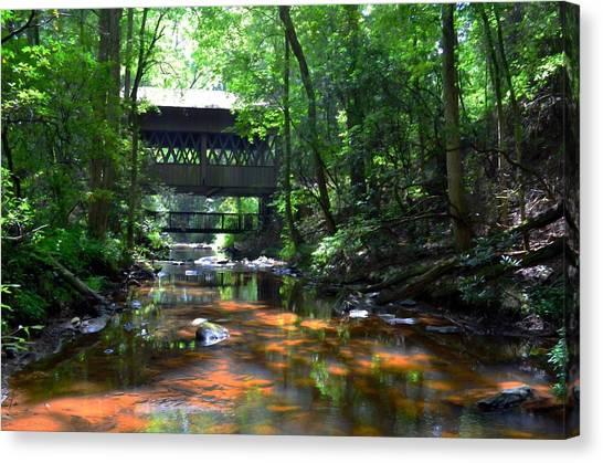 Creek Bridge Canvas Print by Bob Jackson