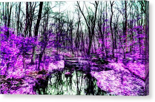 Creek By Purple Canvas Print