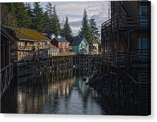 Creek St. Ketchikan Alaska Canvas Print