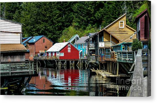 Creek Street - Ketchikan Alaska Canvas Print