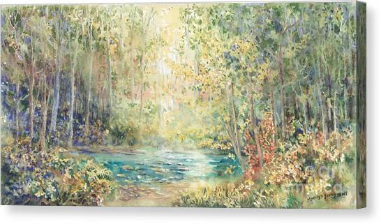 Creek Walk Canvas Print by Marilyn Young