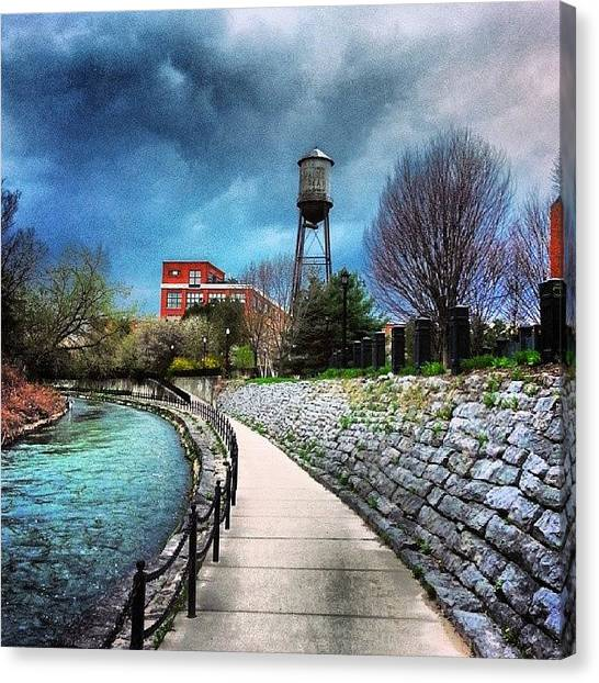 Syracuse University Canvas Print - Creek Walk by Whitney Wagner