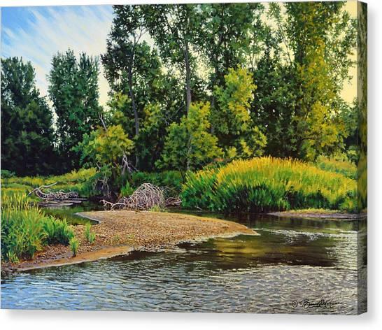 Creek's Bend Canvas Print