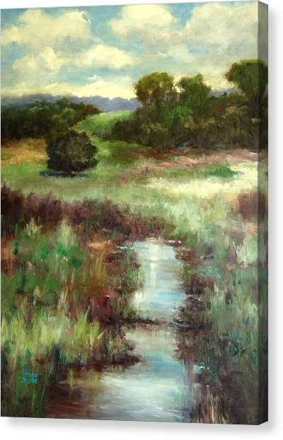 Creekside Morning Canvas Print