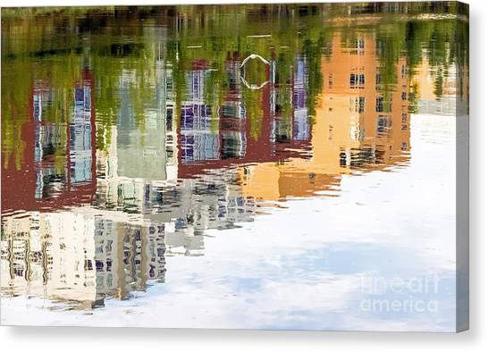 Canvas Print featuring the photograph Creekside Reflections by Kate Brown